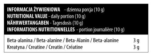 CREATINE+BETA ALANINE DEKLARACIJA
